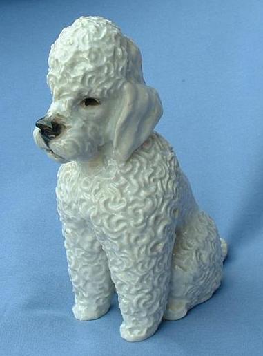 """..vintage 1950s Rosenthal Poodle 6"""" mint crisp curls"""