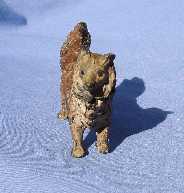Spitz Pomeranian metal nodder dog Heyde Germany