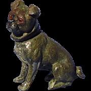 antique Pug bobble head Heyde Germany