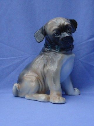 """1950s  pug puppy Ens Germany 9"""""""