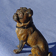 antique Pug dog Heyde Germany