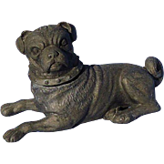 "antique PUG Victorian dog inkwell 5"""