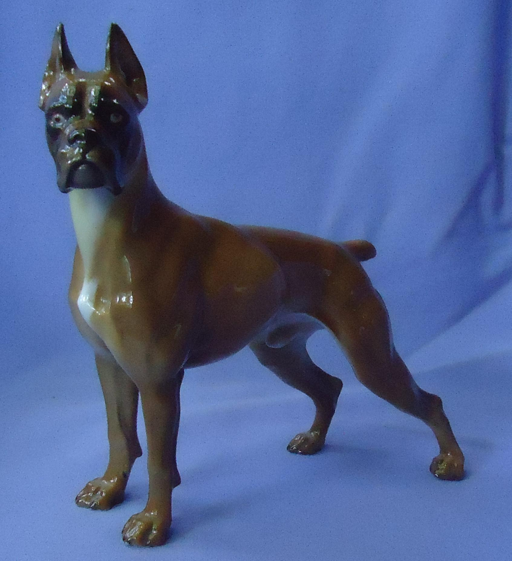 1970 Rosenthal Boxer dog Germany 9""