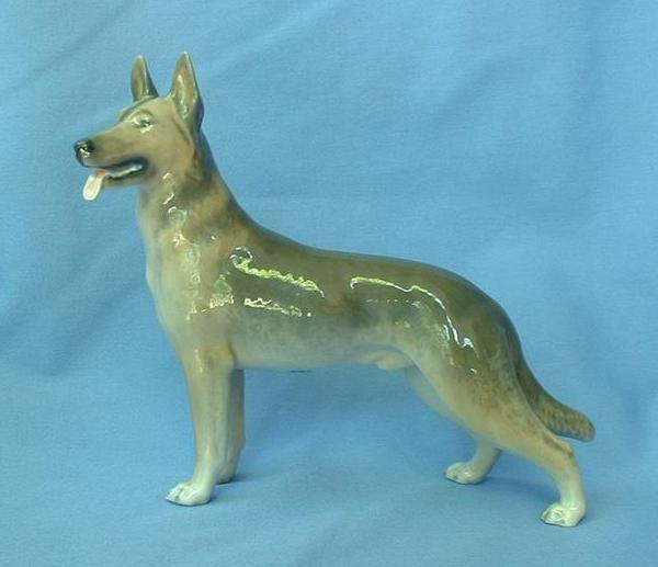"German Shepherd Alsatian Malinois dog Royal Copenhagen Denmark 9"""