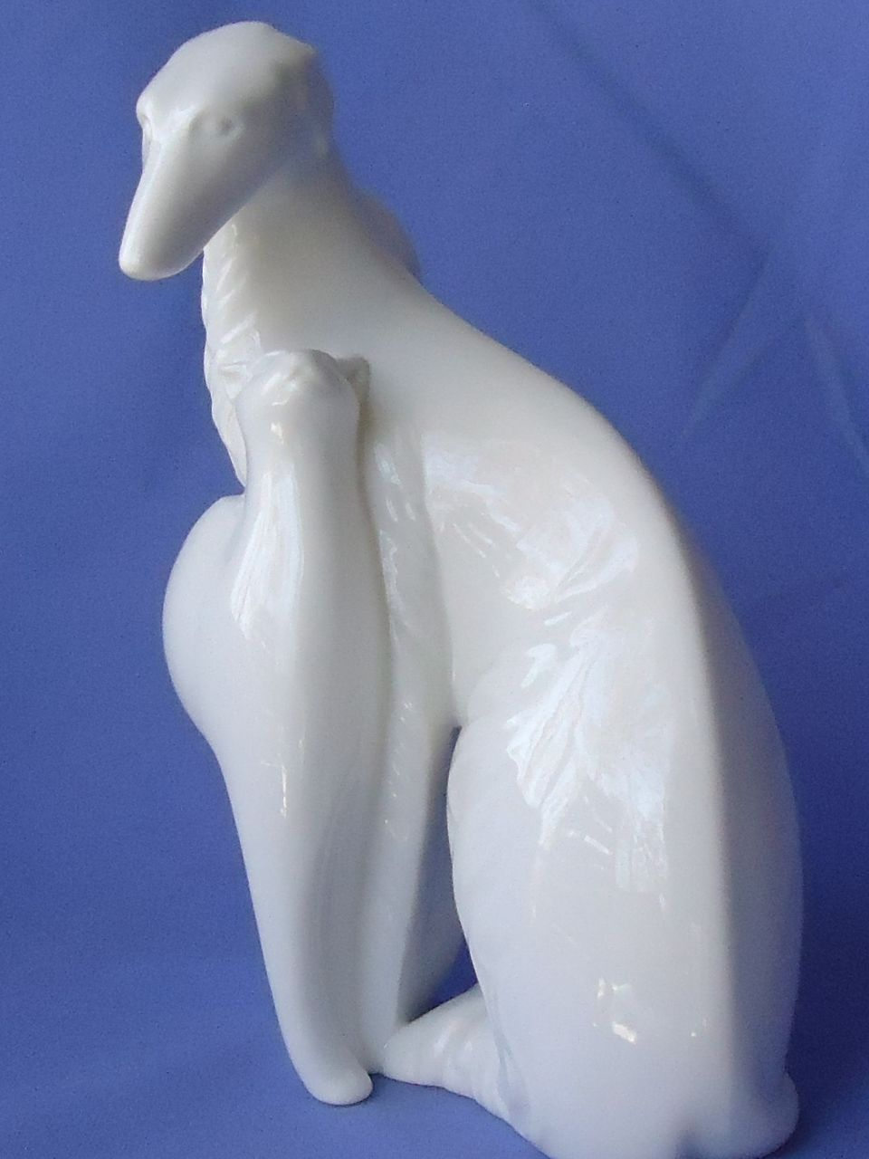 1980s Royal Doulton Borzoi & cat 8""