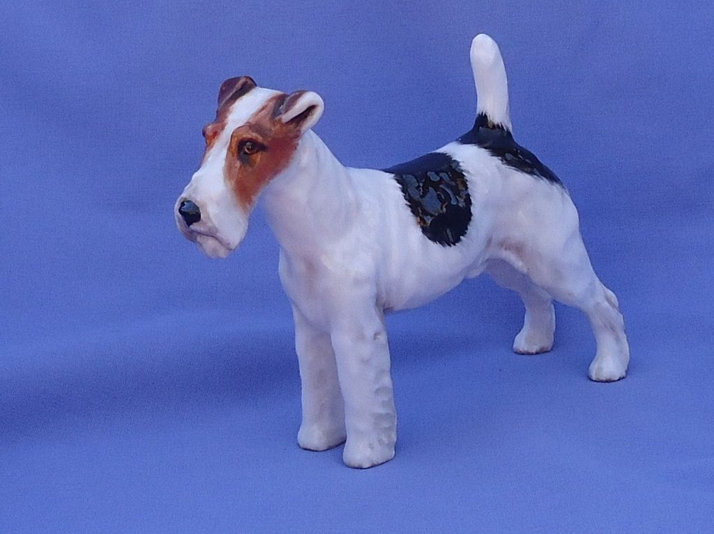 1970s Royal Doulton Fox Terrier Jack Russell 6""