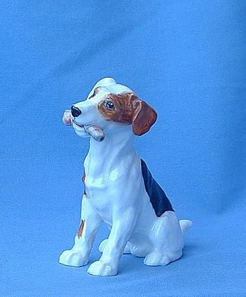 Fox Terrier w bone Royal Doulton 4""