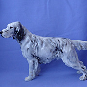 "Royal Doulton English setter hunting dog 8"" HN 1050"