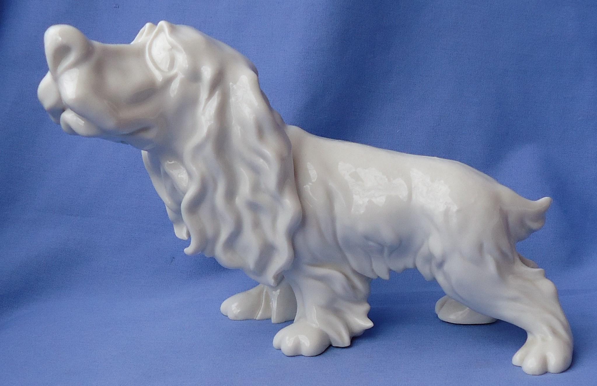"Cacciapuoti Righetto Springer Cavalier King Charles spaniel English setter carton dog Italy 9"""