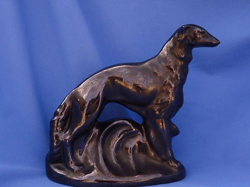 """vintage bronze color Rosemeade Borzoi 7"""""""