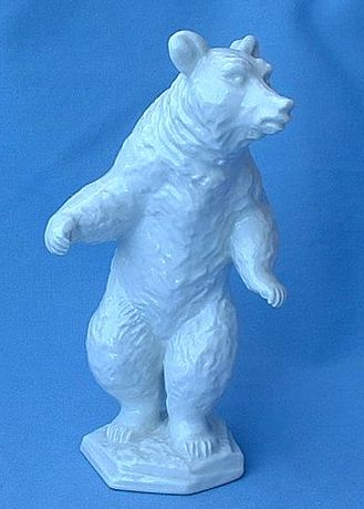 1930s porcelain grizzly bear Rosenthal Germany 6""