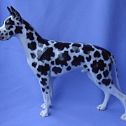 "12"" harlequin Great Dane Rosenthal Germany"
