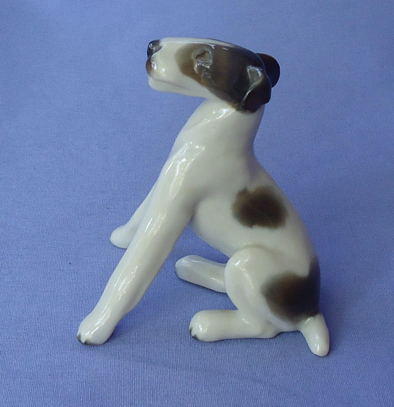 1930s Rosenthal fox terrier Jack Russell sitting dog Germany