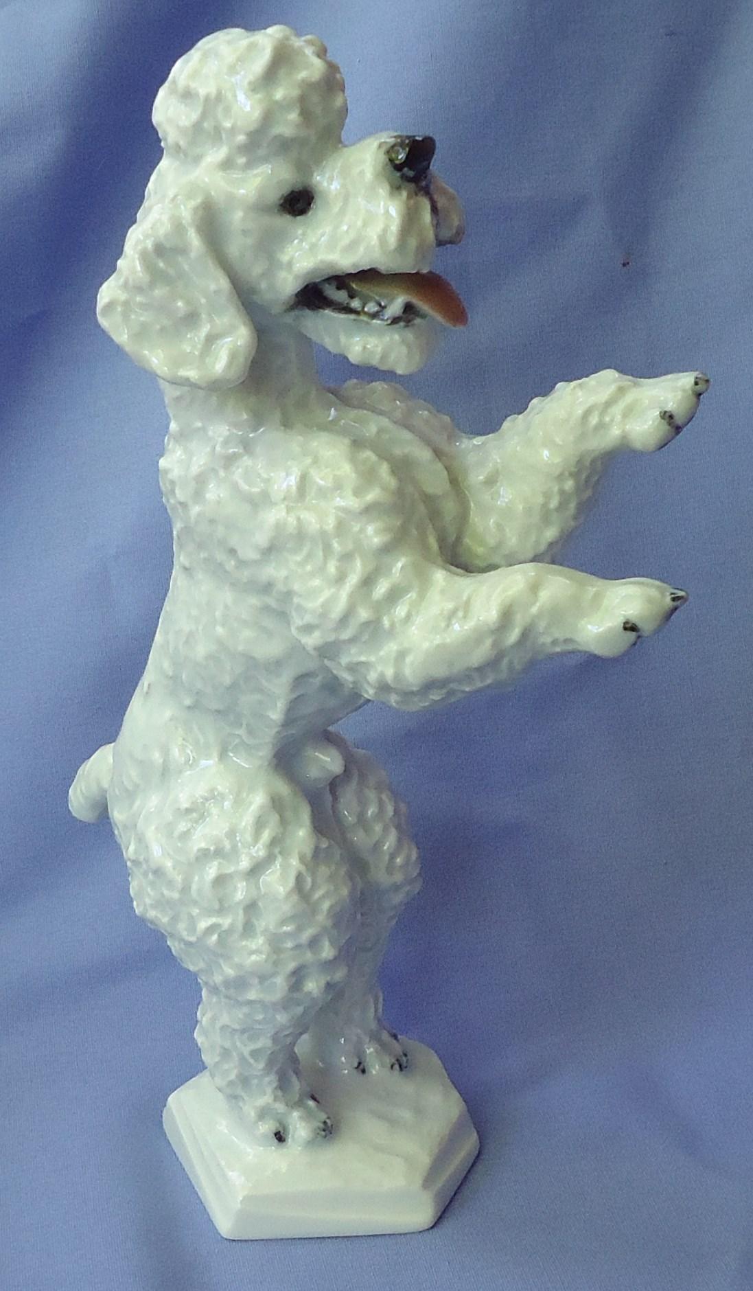 "1930 Rosenthal dancing poodle dog 8"""