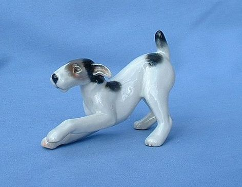 "1930s  Rosenthal fox terrier Jack Russell 4"" Germany"