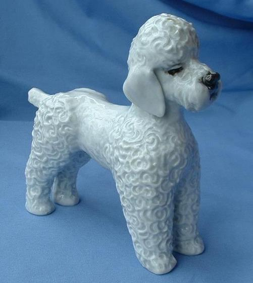 1950s Rosenthal grey Poodle  Germany 7""