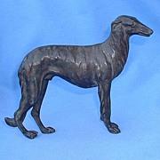 """vintage solid bronze Borzoi Russia 7"""""""