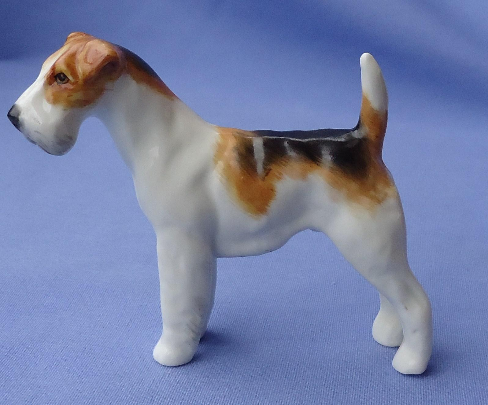 1930 Wire Haired Fox terrier Royal Worcester Lindner 3027