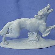 1930s SALUKI Borzoi sighthound dog Rosenthal Germany Karner