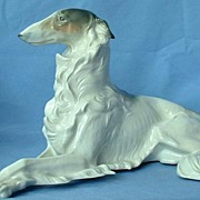 "rare HUGE old Metzler Ortloff BORZOI 12"" long"
