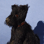 "antique black Scotty scruffy salon dog French fashion doll Germany 3"""