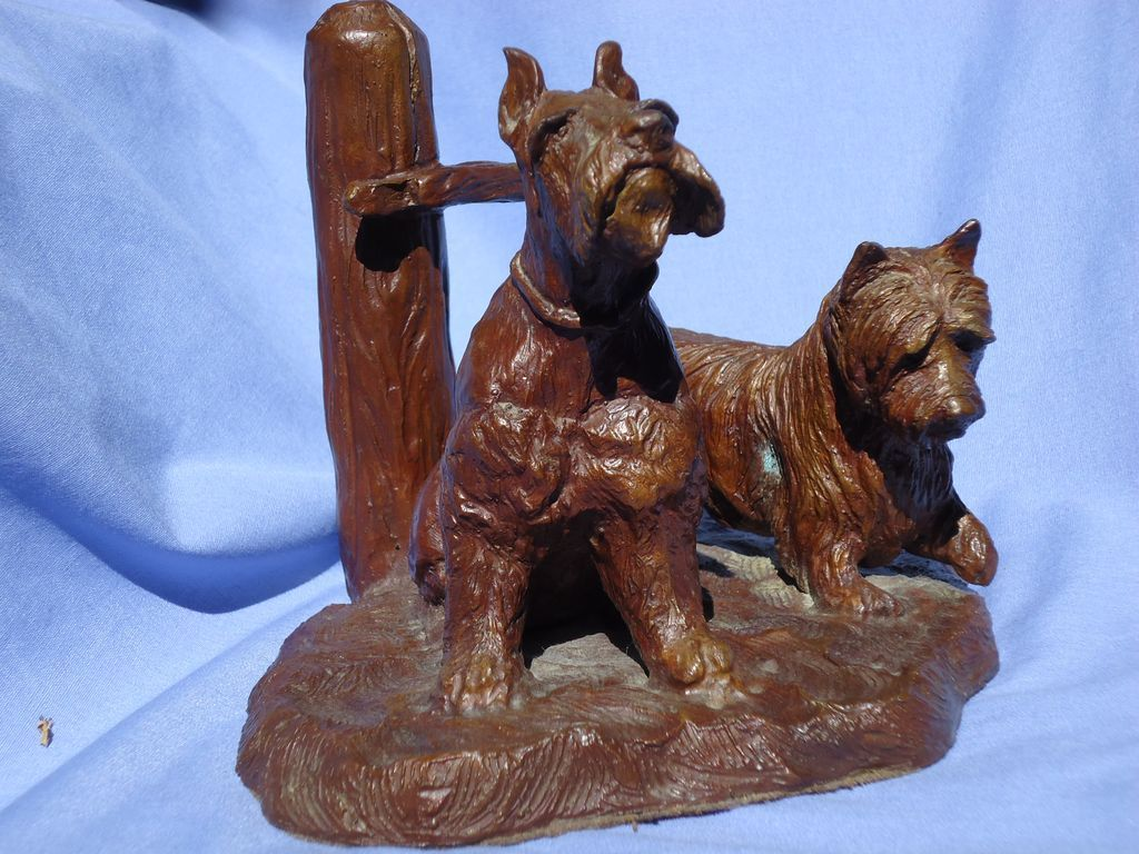 bronze  Schnauzer & Cairn terrier 1985 Uva LE 3/20