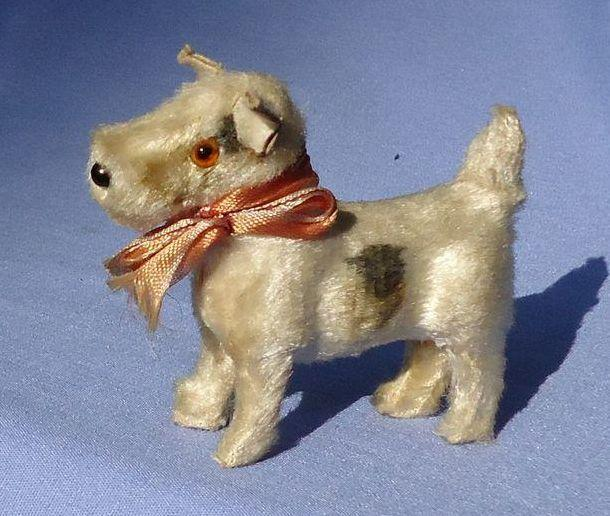"antique frisky FRIPON Scottish terrier salon dog French fashion doll Germany label 3"""