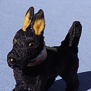 antique black Scottish terrier salon dog Germany French fashion doll