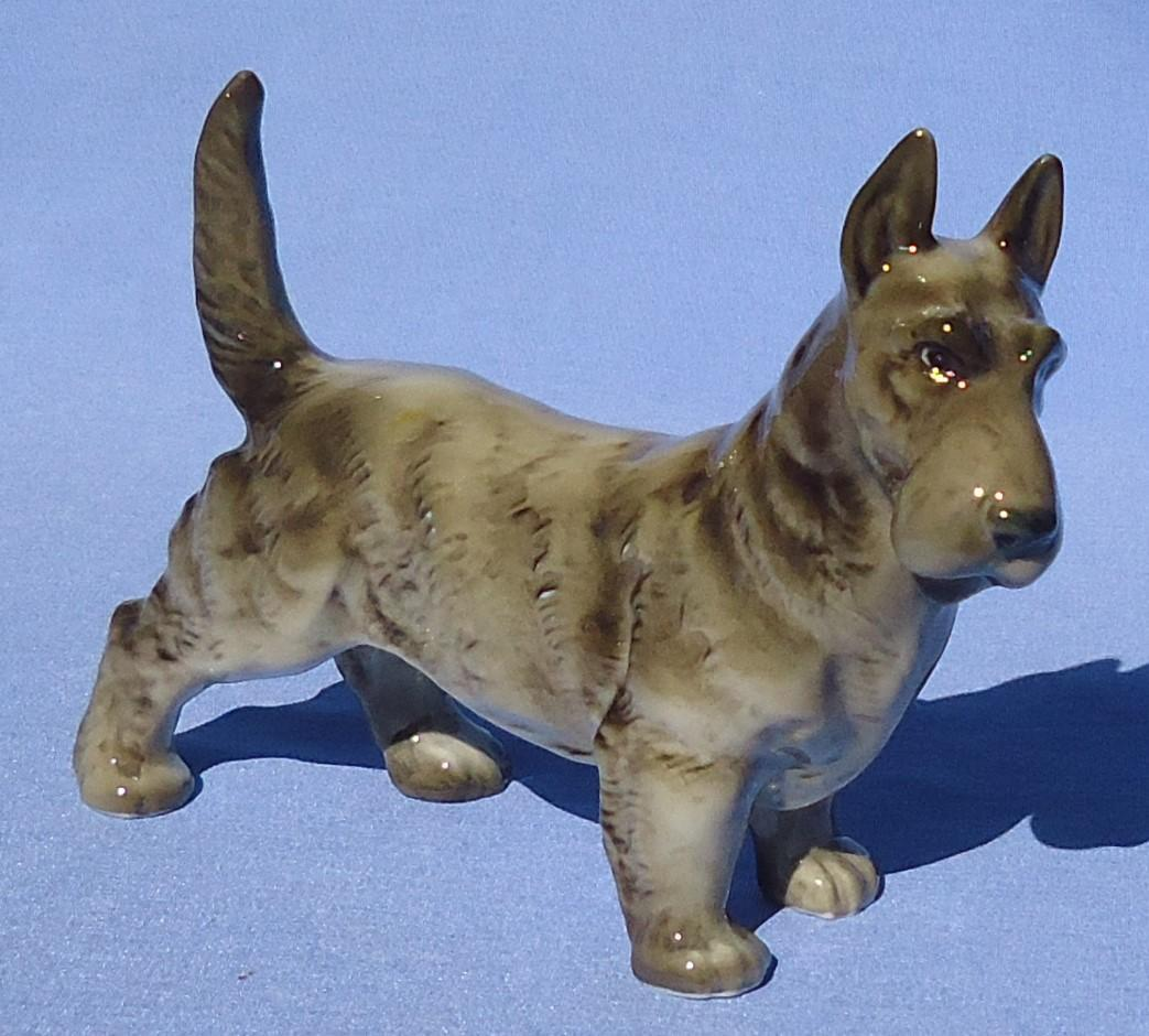 "1950s grey Scottish Terrier 5"" Hutschenreuther Germany"