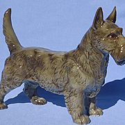 "1950s Scottish Terrier dog 8"" Hutschenreuther Germany"