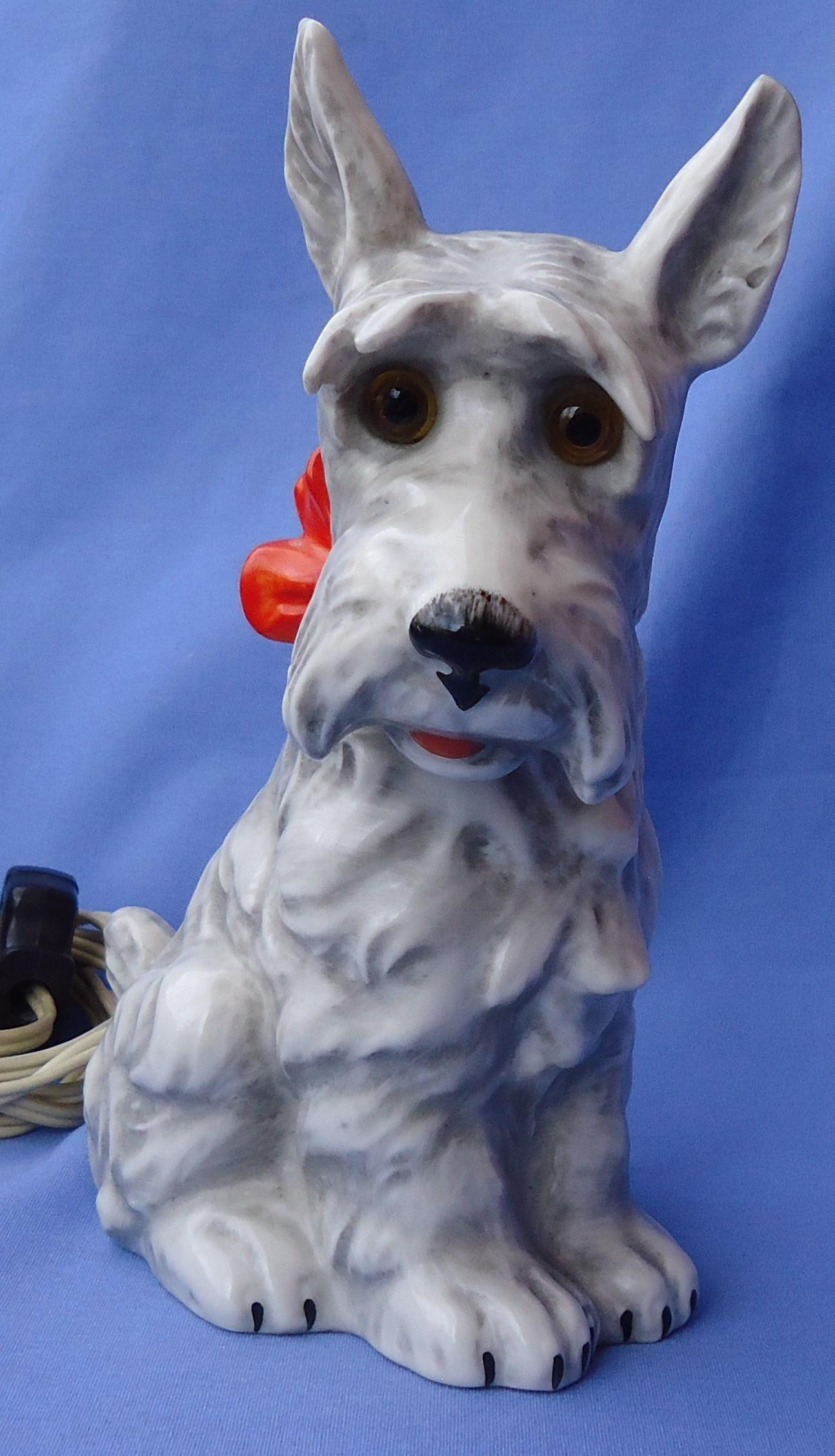 Scottish terrier perfume lamp Germany 8""