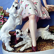 """1950s Scottish West Highland Westie terriers w lady Mollica Italy 14"""""""