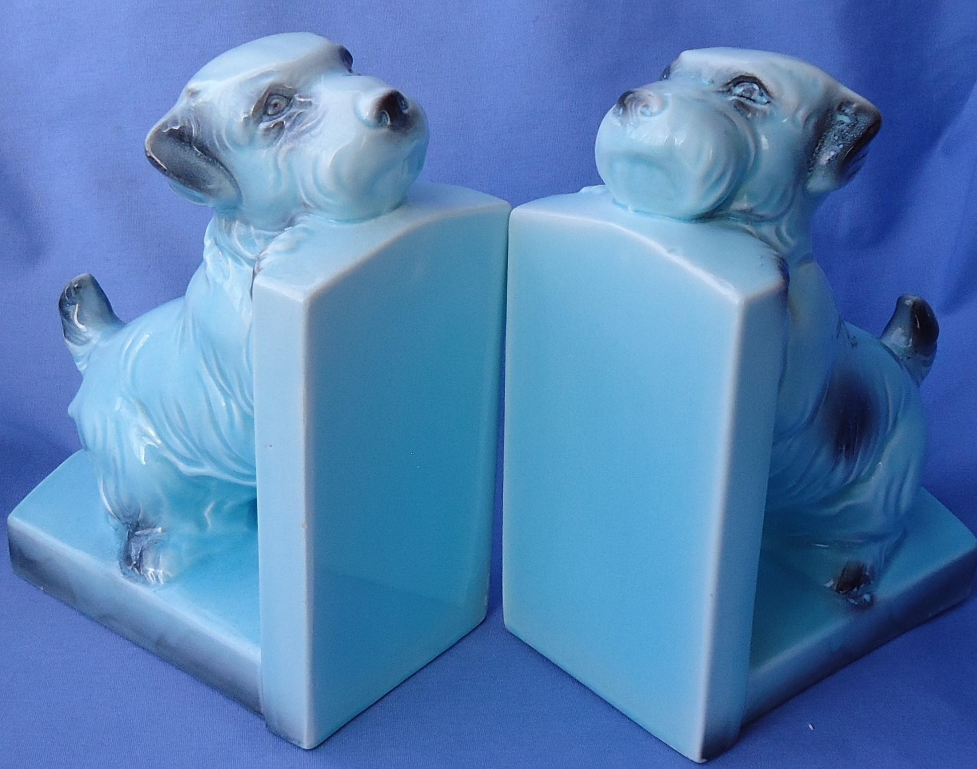 Sealyham Cesky terrier bookends Germany