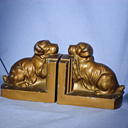 1940s Sealyham Cesky Norfolk terrier bookends Nuart
