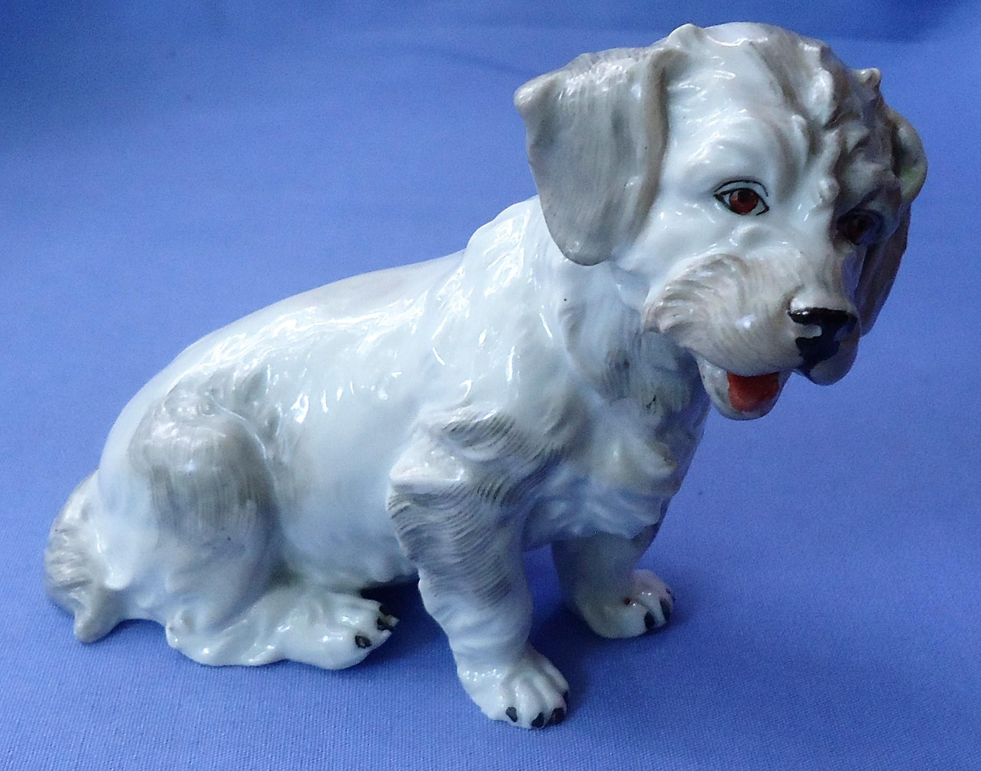 vintage Dresden Germany Sealyham Cesky terrier 5""