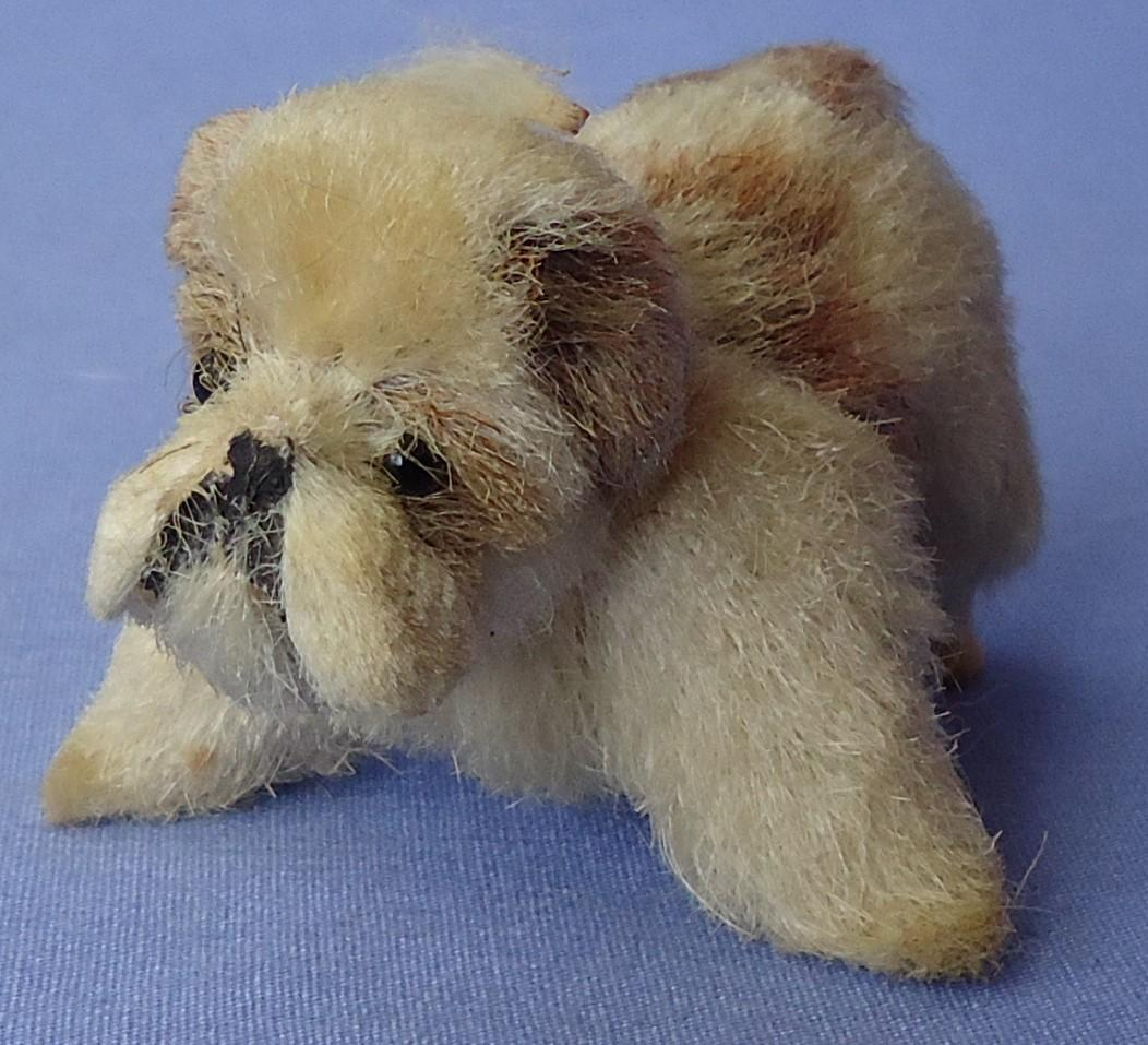 antique Sealyham salon puppy dog French fashion doll Germany 3""