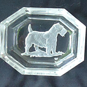 art deco crystal Sealyham Cesky terrier Czechoslovakia