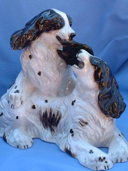 "1950s English Setter Springer Spaniel 13""  Ronzan Italy"