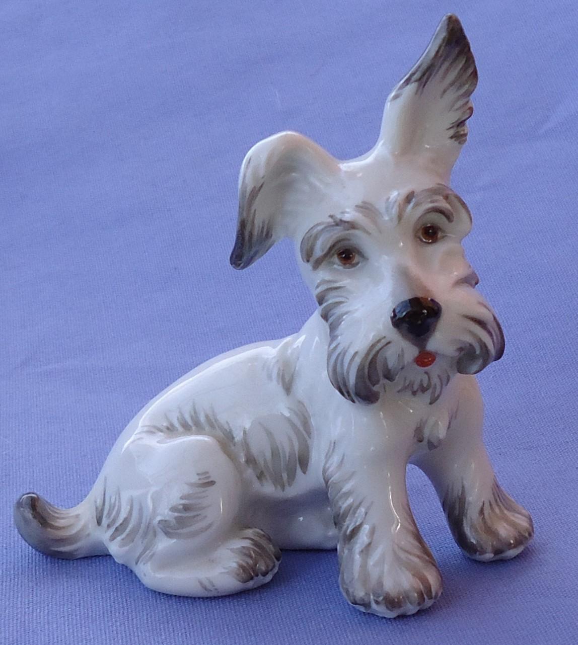 """Skye Silky  Terrier Augarten Austria Briard dog 3"""""""