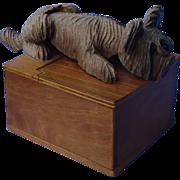 Skye Silky Terrier Briard Anri cigarette box Germany