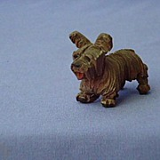 vintage hand carved  wood Skye Terrier Anri