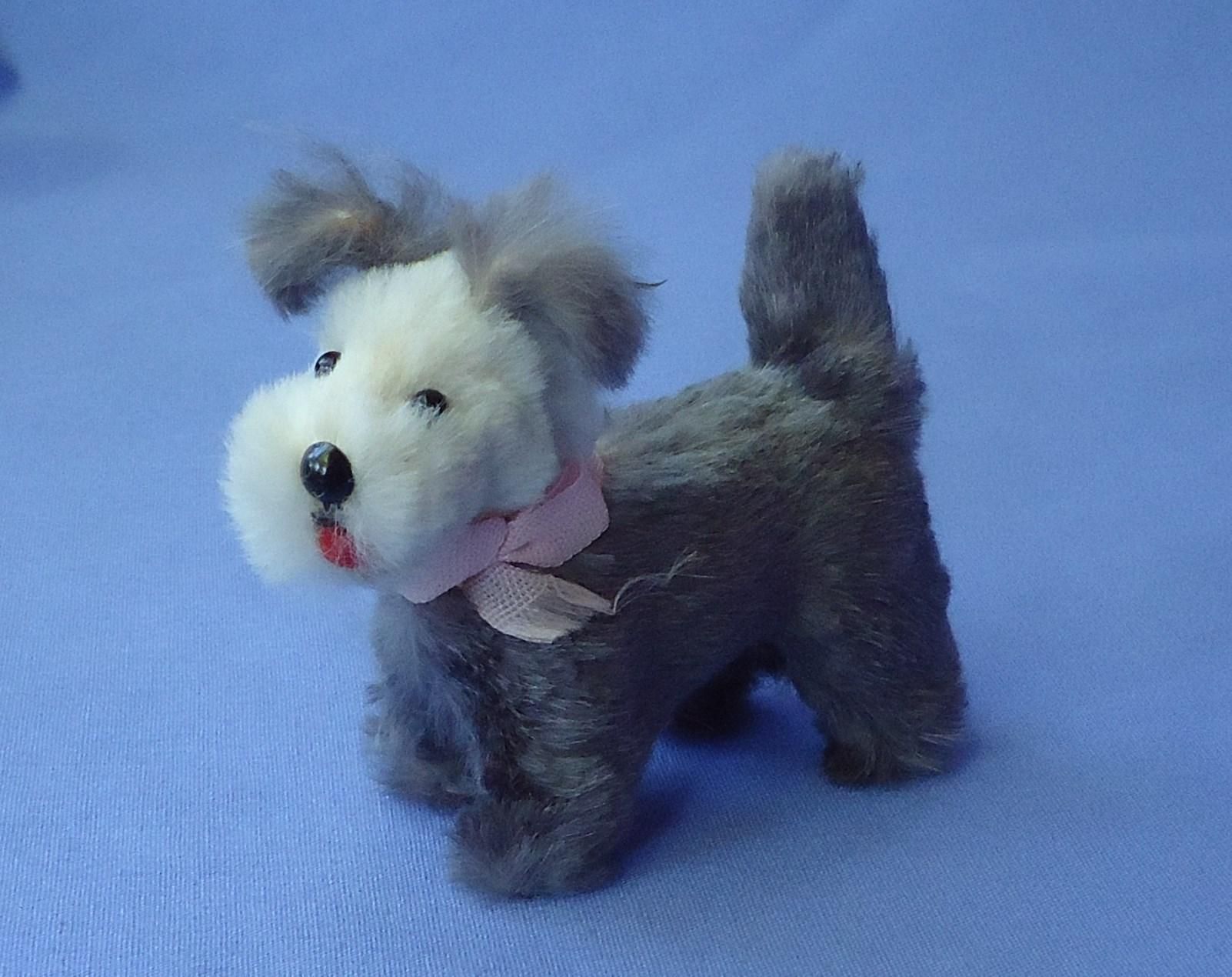 antique fur Skye Silky terrier dog French fashion doll Germany label