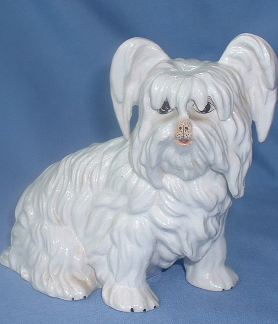"vintage Skye /Silky Terrier dog Italy 7"""