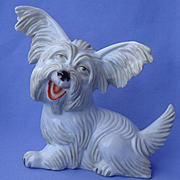 "1930 Rosenthal Skye Silky terrier Briard dog 9"""
