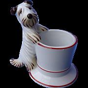 art deco Skye Silky Terrier Bosse dog match striker Metzler Ortloff Germany