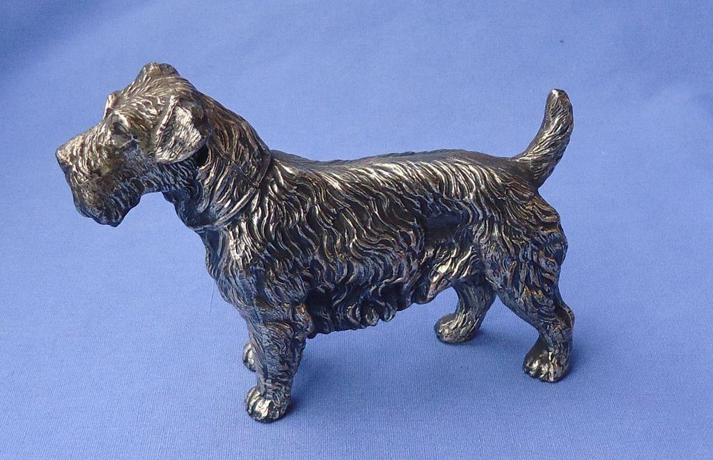 "1930 silver Sealyham Cesky terrier JB 5"""