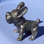 1940s silver French Bulldog Ronson 3""