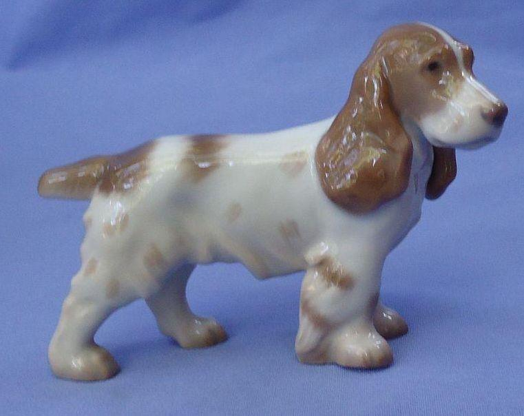 "vintage Brittany field Cocker Springer spaniel Bing Grondahl Denmark hunting dog 4"""