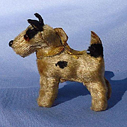 antique Fripon Fox terrier salon dog French fashion doll companion Germany label 2""