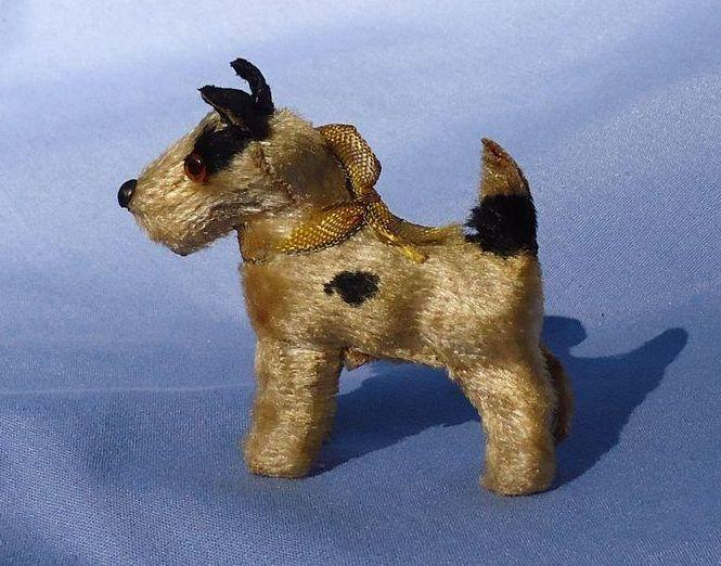 "antique Fripon Fox terrier salon dog French fashion doll companion Germany label 2"""